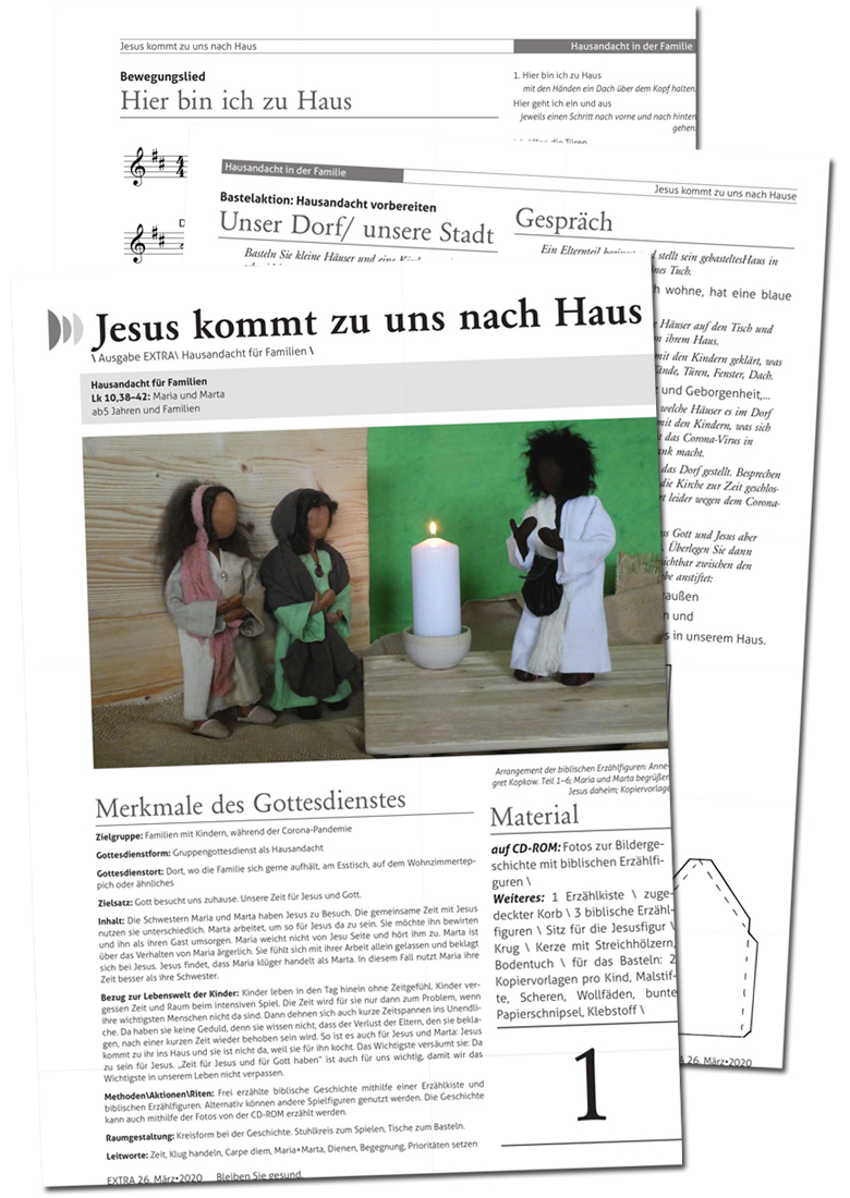 Hausandacht: Jesus kommt zu uns nach Haus